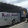 パレルモ空港から市内にバスで移動