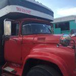 ハバナからサンティアゴ・デ・クーバまでカミオンで移動